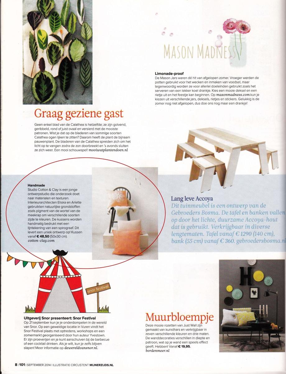 101 woonideeen, cotton-clay, cotton and clay, rubia silk, magazine, tijdschrift, wonen, design