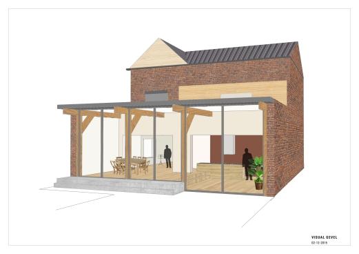 Advies aanbouw woning; het visualiseren van een aanbouw kan soms lastig zijn. Hiervoor maakte Studio Cotton & Clay tekeningen en 3D aanzichten.